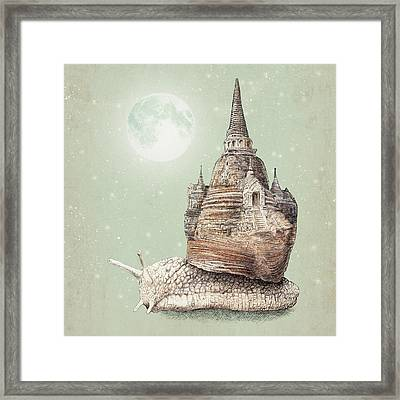 The Snail's Dream Framed Print