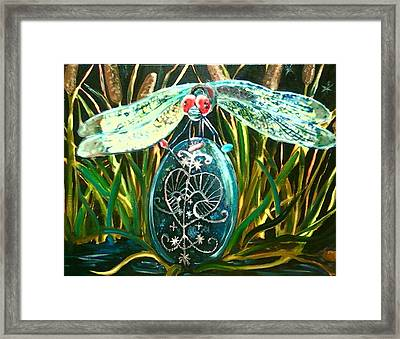 The Snake Doctor Framed Print