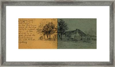 The Snodgrass House On The Battlefield Of Chickamauga Framed Print