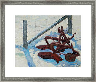 The Snow Plow Framed Print