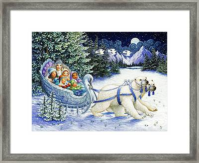 The Snow Queen Framed Print by Lynn Bywaters