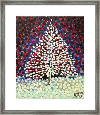 The Snow Tree Framed Print by Alan Hogan