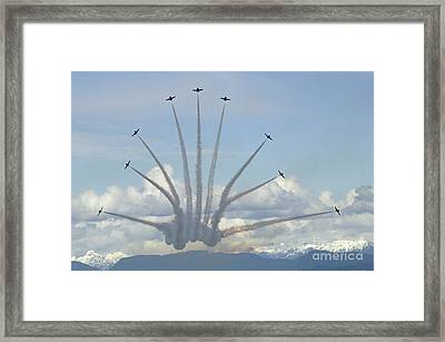 The Snowbirds In High Gear Framed Print by Bob Christopher