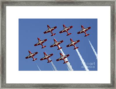 The Snowbirds Keeping It Tight Framed Print by Bob Christopher