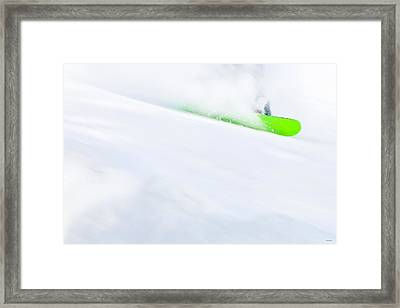 The Snowboarder And The Snow Framed Print