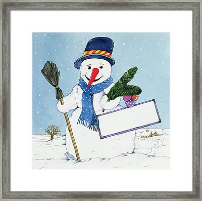 The Snowman Framed Print