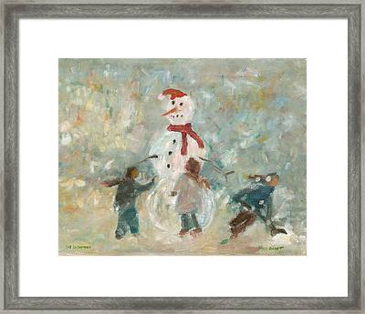 The Snowman Framed Print by David Dossett