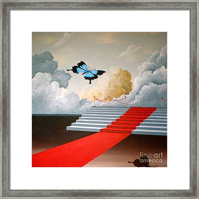 The Social Butterfly Framed Print