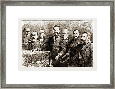 The Social Science Congress At Huddersfield A Portrait Framed Print