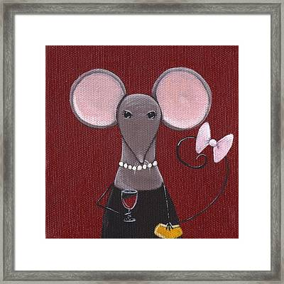 The Socialite  Framed Print by Christy Beckwith