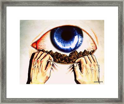 The Society Is A Mirror Reflecting Ourselves Framed Print by Paulo Zerbato