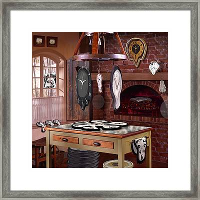 The Soft Clock Shop 3 Framed Print