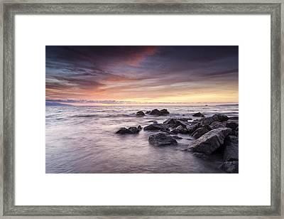 The Soft Ocean Breeze Framed Print by Edward Kreis