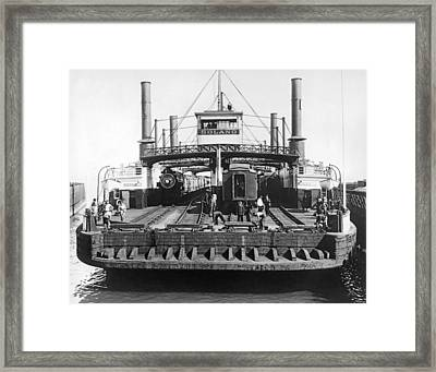 The Solano Ferry Framed Print by Underwood Archives