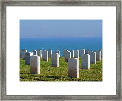 The Soldiers Last Call Framed Print by Judy  Waller