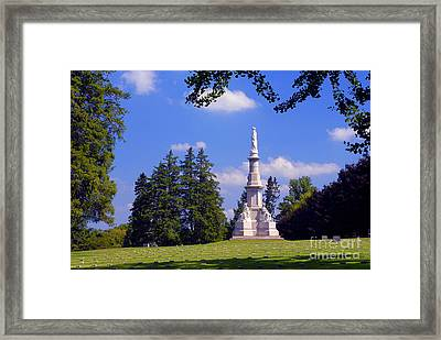 The Soldiers Monument Framed Print
