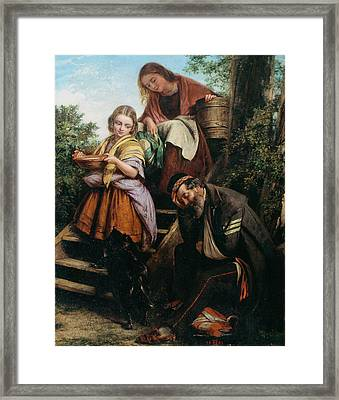 The Soldiers Return, C.1861 Framed Print