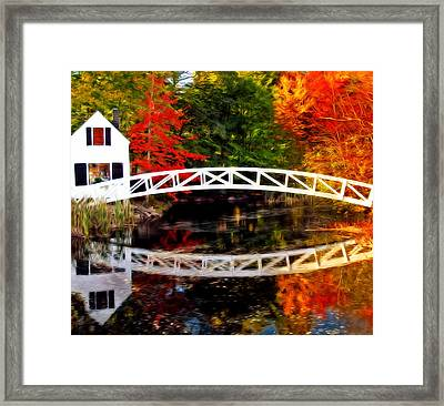 Framed Print featuring the photograph The Somesville Bridge by Bill Howard