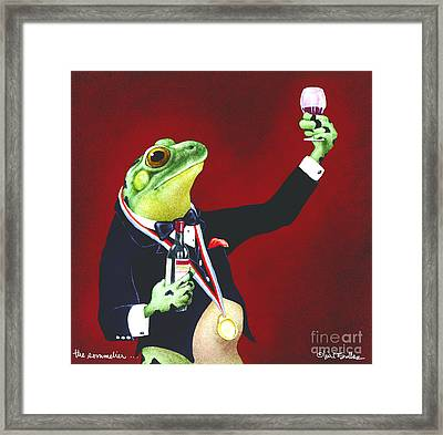 The Sommelier... Framed Print by Will Bullas