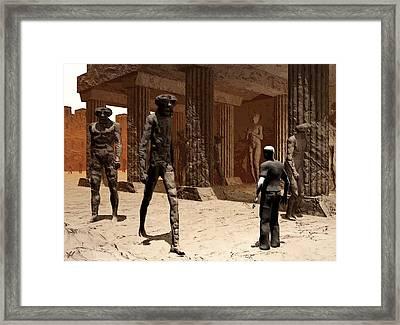 The Somnambulist In The Underworld Framed Print