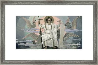 The Son Of God   The Word Of God Framed Print by Victor Mikhailovich Vasnetsov
