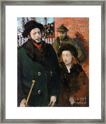 The Son Of The Rabbi And His Daughter Marriage At The Synagogue Framed Print by Celestial Images