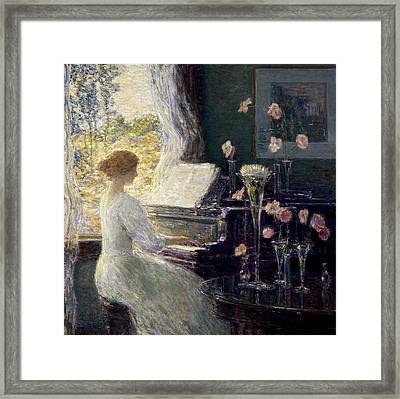 The Sonata Framed Print by Childe Hassam