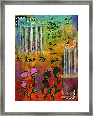 The Song Of My Own Belief Framed Print by Angela L Walker
