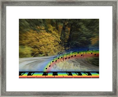 The Song That Keeps Repeating In My Head Framed Print by Diane Schuster
