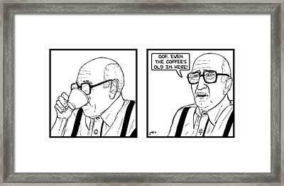 The Sopranos - Bad Coffee Framed Print by Jeff Weiner
