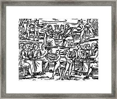 The Sorcerers Feast Framed Print by Italian School