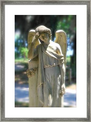The Sorrow Of An Angel Framed Print