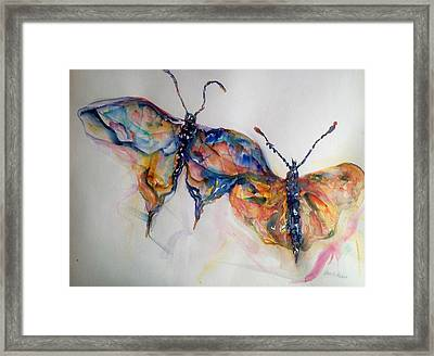 Under My Wing Framed Print by Beverly Bronson