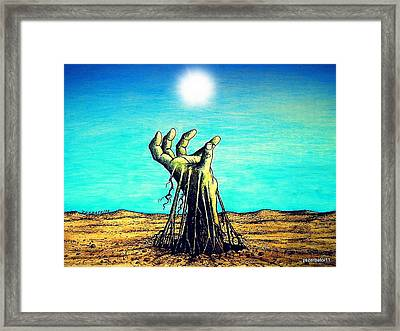 The Soul Is For The Truth Like The Root Is For The Land Framed Print by Paulo Zerbato