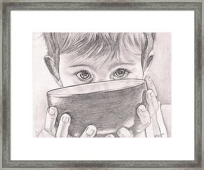 The Soup Bowl Framed Print by Beverly Marshall
