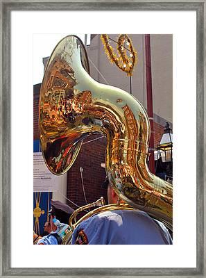 The Sousaphone - North End Boston Framed Print