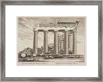 The South East Angle Of The Temple Of Min Framed Print