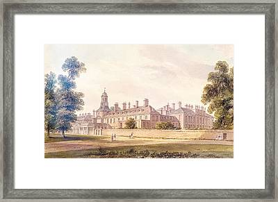 The South-west View Of Kensington Palace, 1826 Wc On Paper Framed Print