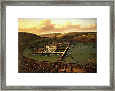 The Southeast Prospect Of Hampton Court, Herefordshire Framed Print by Litz Collection