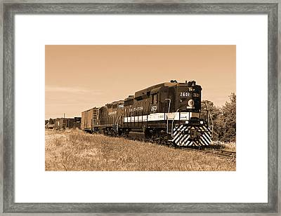The Southern And The Norfolk And Western Framed Print by Reginald McDowell