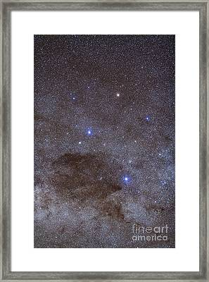 The Southern Cross And Coalsack Nebula Framed Print by Alan Dyer