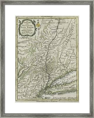 The Southern Part Of The Province Of New York Framed Print by Thomas Kitchin