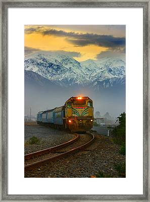 The Southerner Train New Zealand Framed Print by Amanda Stadther
