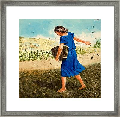 The Sower Of The Seed Framed Print by Clive Uptton