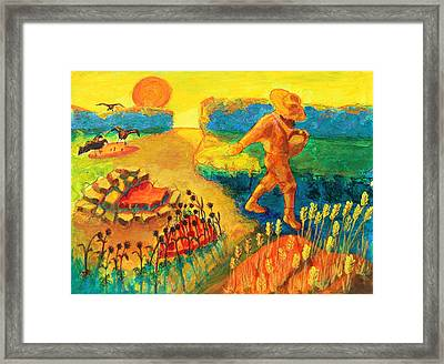 The Sower Painting By Bertram Poole Framed Print