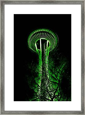 The Space Needle In The Emerald City II Framed Print by David Patterson