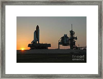 The Space Shuttle Discovery Framed Print