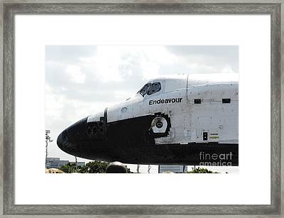 The Space Shuttle Endeavour 1 Framed Print by Micah May