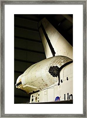 The Space Shuttle Endeavour At Its Final Destination 15 Framed Print