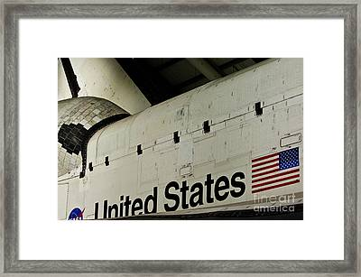 The Space Shuttle Endeavour At Its Final Destination 16 Framed Print